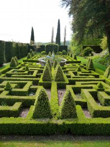 Bourton House Garden Knot Garden near Heath Farm Holiday Cottages