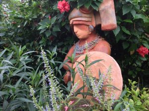 Lady statue at Butterfly Farm in Stratford upon Avon