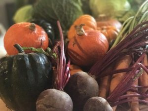 Autumn Vegetables at The Kitchen near Heath Farm Holiday Cottages