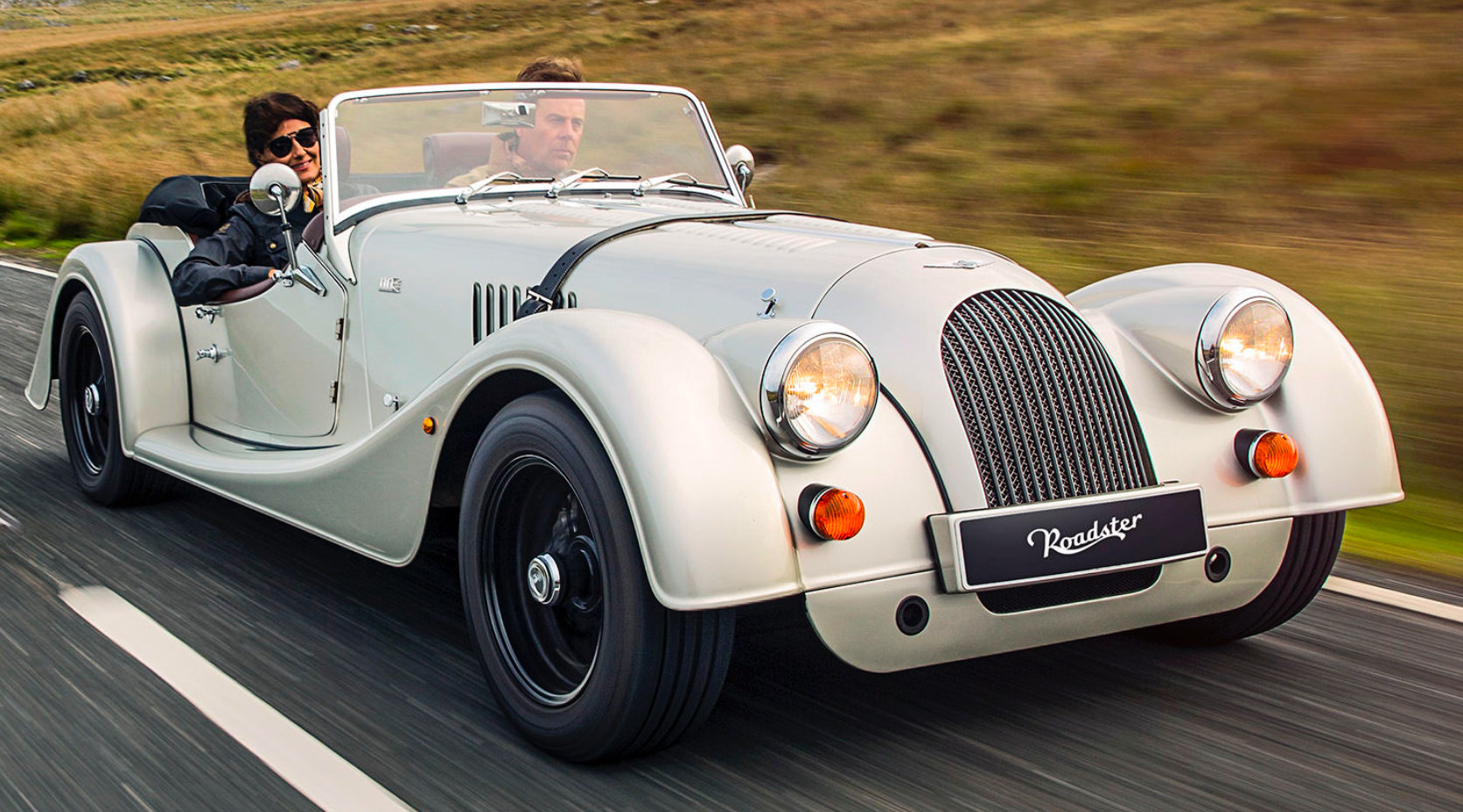 White Morgan car