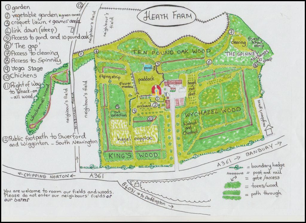 Heath Farm Hand Drawn Map